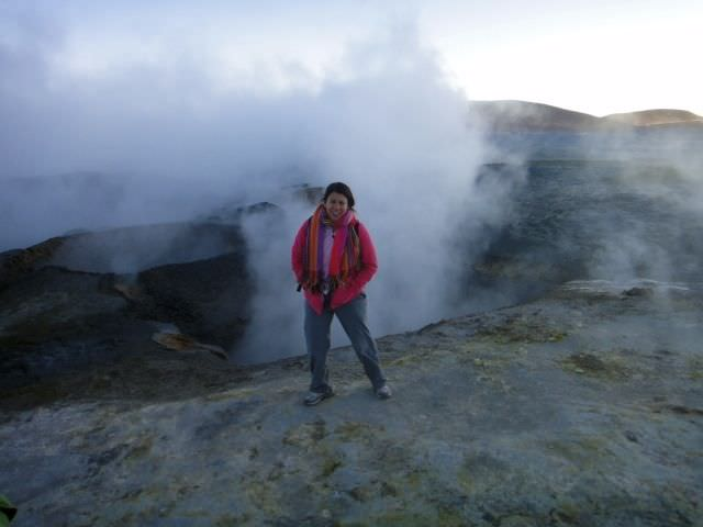 Geysers Bolivian Salt Flats