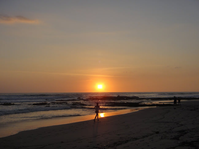 Santa Teresa beach Running