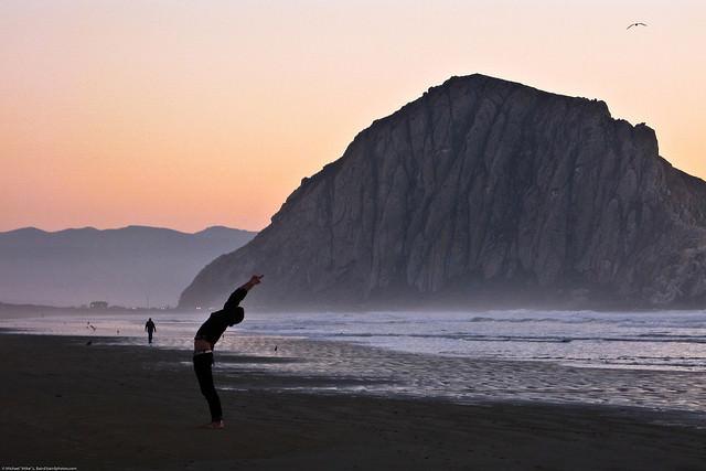 Yoga Beach New Year travel Resolutions