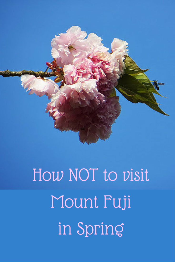 How NOT to visit Mount Fuji in Spring