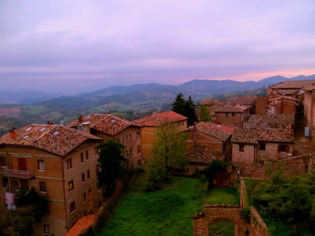 Urbino sunset italy