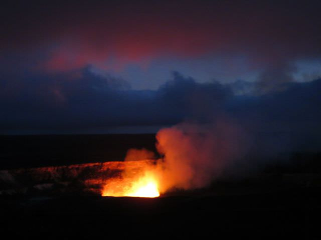 Lava on Big Island in the Hawaiian Islands