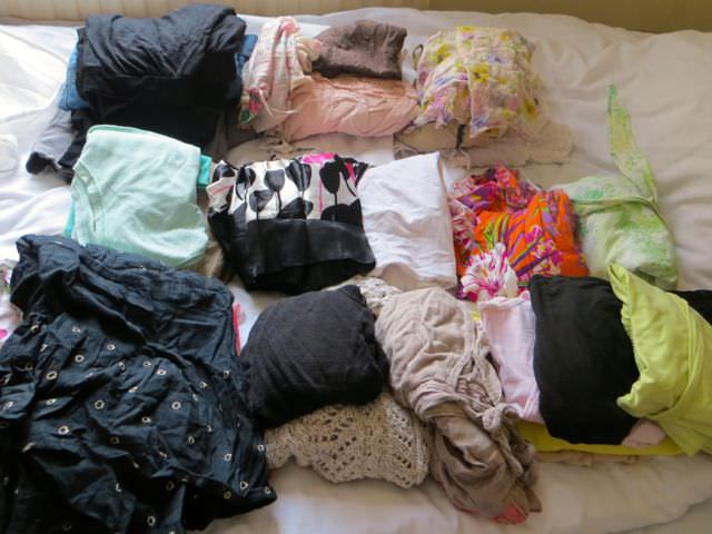 Clothes need to reduce for packing light