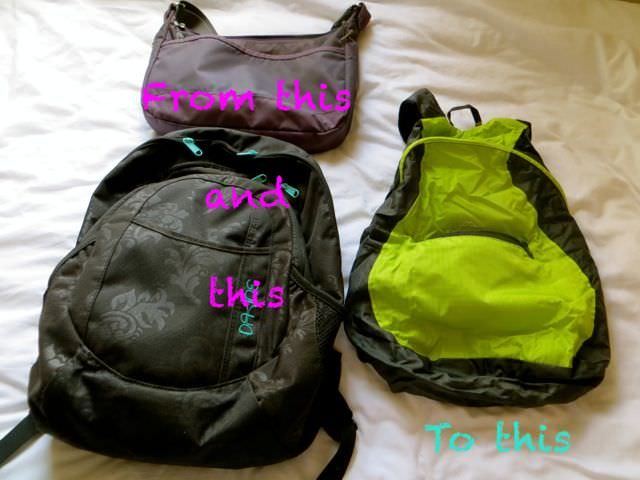 Daypacks for packing light