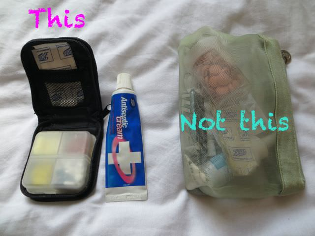 Medicine bag for packing light