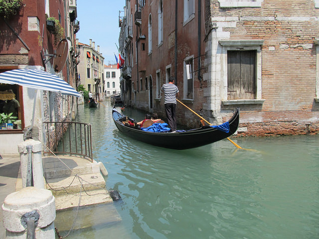 One day in Venice ride a gondola