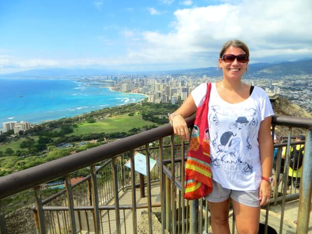 Indiana Jo at the Top of Diamond Head