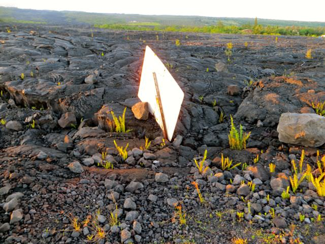 Buried Sign Hawaii Big Island