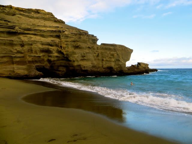 Green sands beach Weirdest Places on Earth