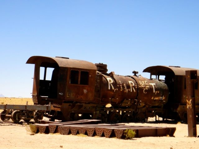 Train Graveyard Bolivian Salt Flats