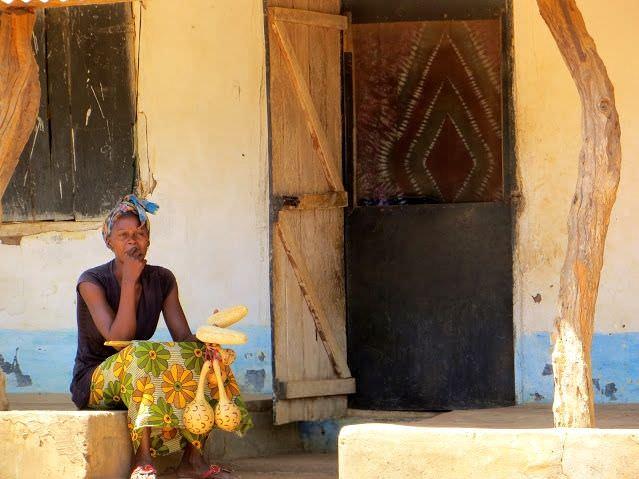 Pensive Woman Juffureh Gambia Tourism
