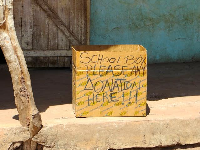 School Donation Box Gambia Tourism