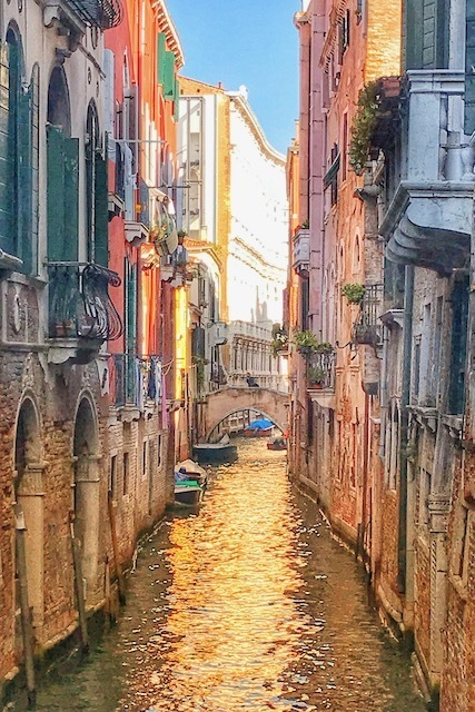Canals of Venice sunlight