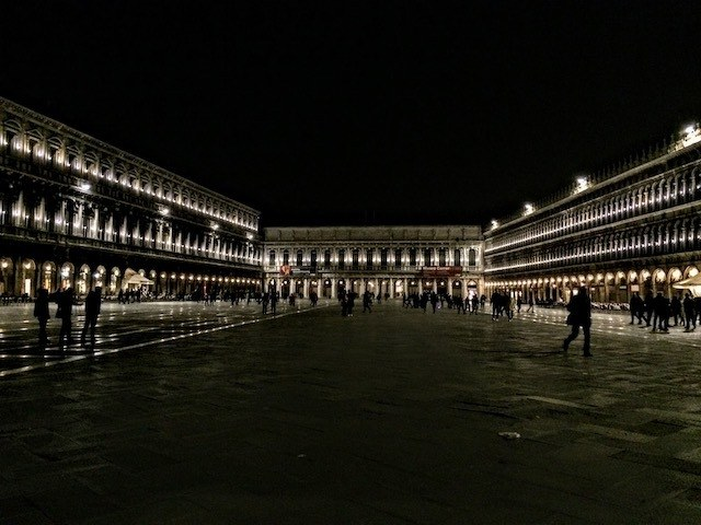 St Marks Square at night