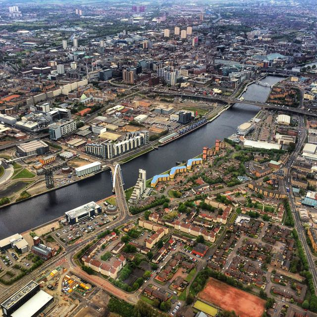 Best things to do in scotland - Glasgow aerial view