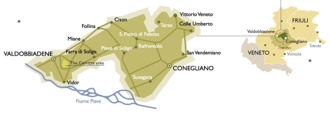 Prosecco Region Italy Map.How To Plan Your Own Prosecco Tour In Italy For A Sip Of The Cost
