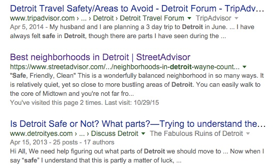 is detroit safe which areas are safe