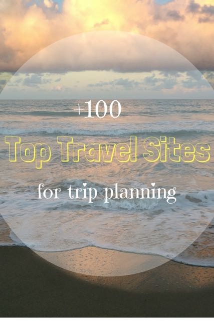 Top travel sites for trip planning Pinterest