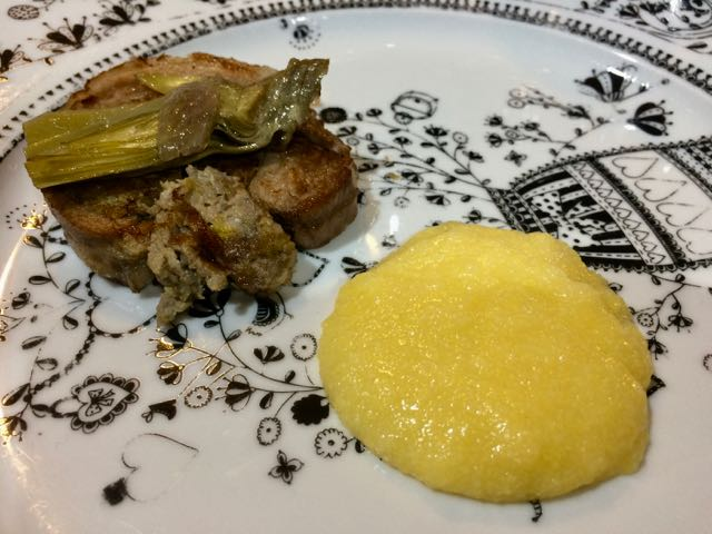 sardinian food paork and polenta