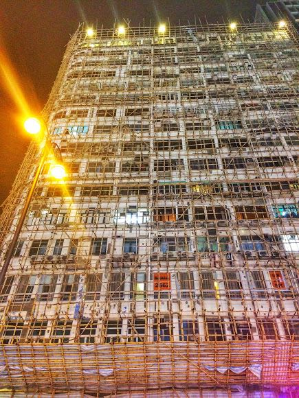 3 days in Hong Kong Bamboo scaffolding