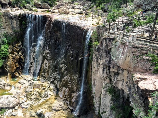 Affordable copper canyon tour itinerary Cascadas Cusarare