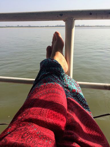 Taking the Boat from Bagan to Mandalay