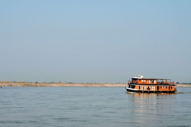 Taking the boat from bagan to Mandalay River Cruise
