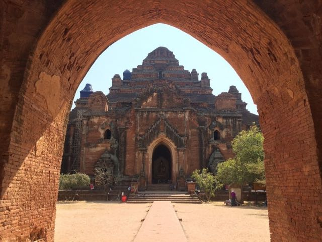 Things to do in Bagan - framed temple