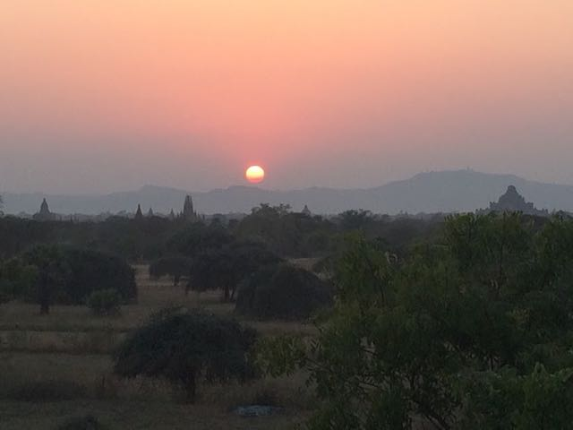 Things to do in Bagan - sunset
