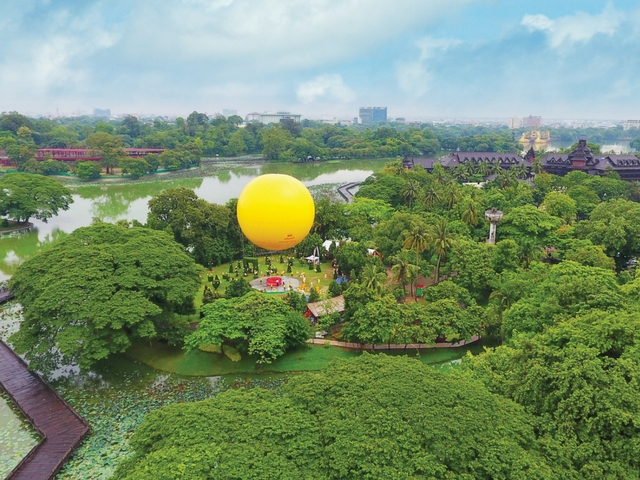 Things to do in Yangon - Balloon ride