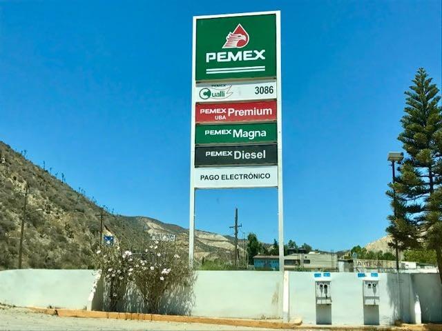 Baja California Road Trip Itinerary Pemex