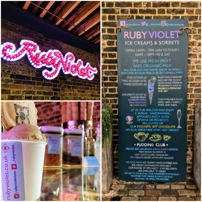 Things to do near Kings Cross St Pancras in London Ruby Violet Ice Cream