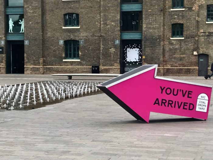 Things to do near kings cross st pancras granary square sign