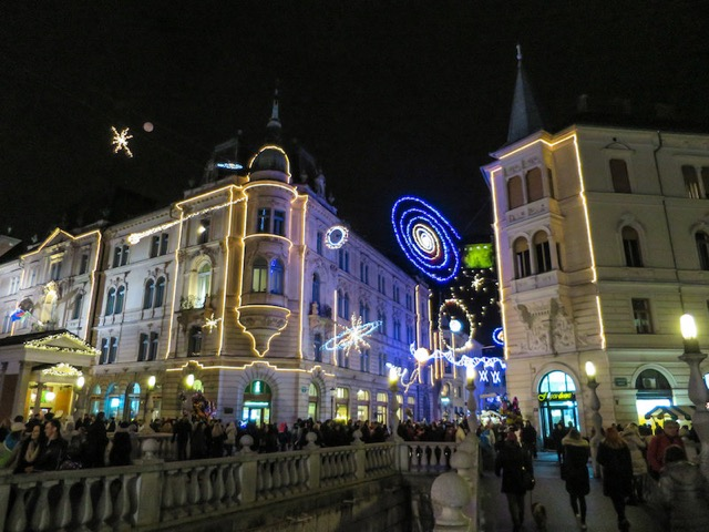 Best Eastern European Christmas Markets ljubljana-christmas-lights
