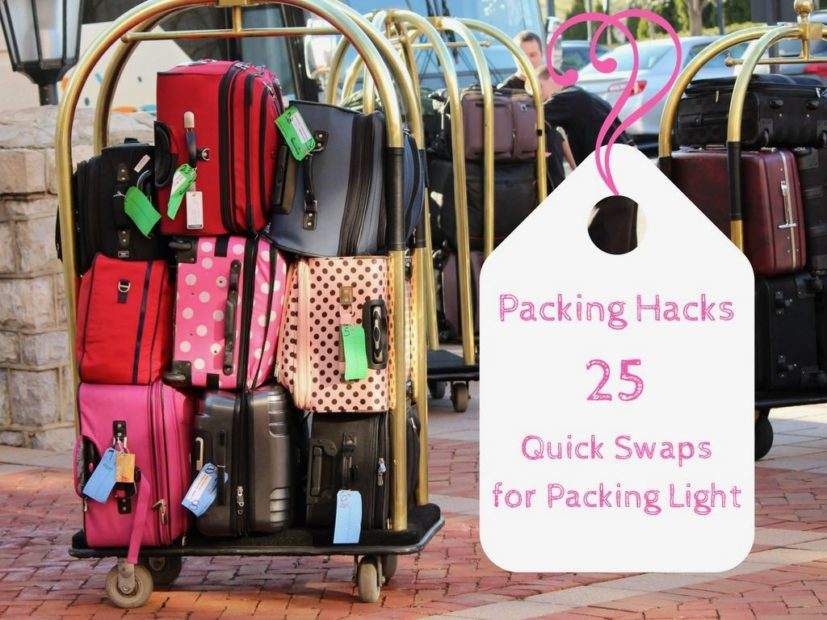 How to Travel Light: 25 Quick Swaps for Packing Light
