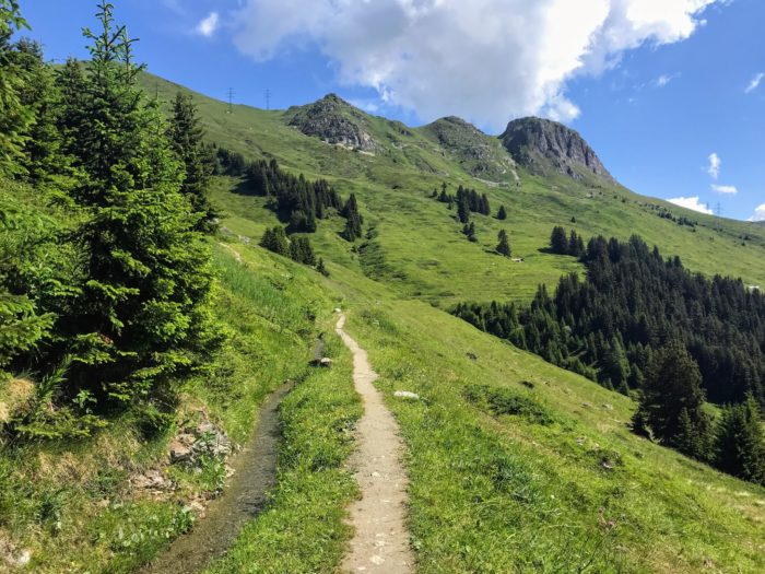 Things to do in summer in Verbier Bisse walk