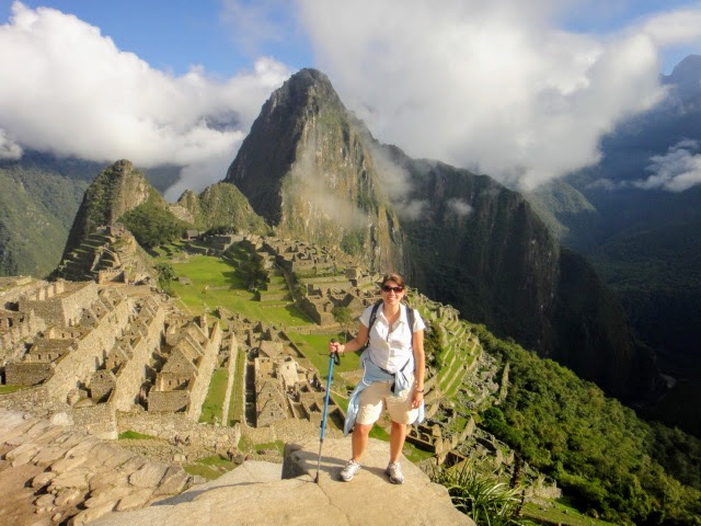 hiking up macho Picchu - wish I could do it again after my ACL surgery recovery