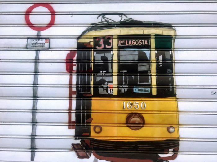 Things To Do In Milan tram street art