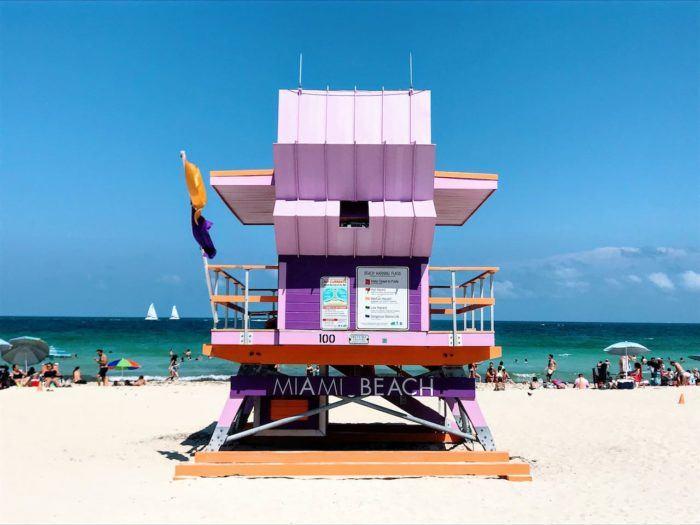 lifeguard station Miami Beach pink