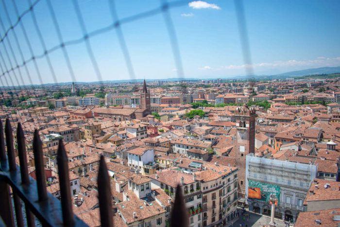 Torre dei Lamberti view over Verona
