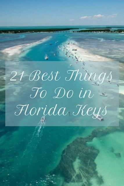 Pinterest image of Florida Keys water and boats