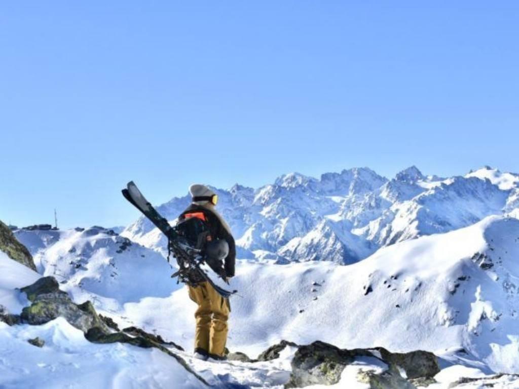 skier in Verbier